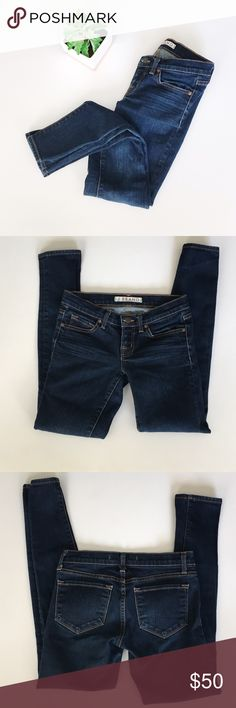J Brand Skinny Leg Ankle Jeans J Brand skinny leg ankle jeans size 24. Wash ink. 98% cotton 2% spandex. Inseam 28.5 inches, waist 13.5 inches, rise 7 inches. No stains or holes, smoke and pet free home! Offers welcomed! J Brand Jeans Ankle & Cropped