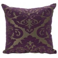 Empire Flocked Cushion from Zireas Designs