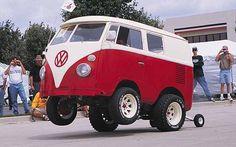Volkswagen wheelie bus
