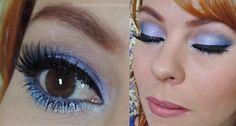 Maquiagem lilás lavanda com glitter Tutorial: http://www.blogflordemulher.com.br/2015/03/tutorial-de-maquiagem-lilas-lavanda-com.html