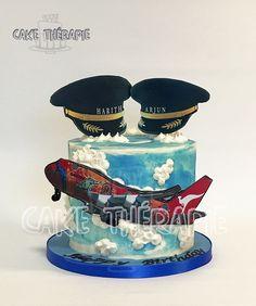 Aeroplane theme cake.