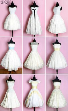 More of the cutest dresses ever. fifties/vintage wedding dresses.