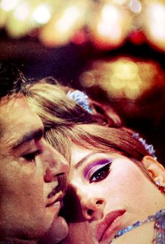 Barbara Streisand and Omar Sharif in 'Funny Girl', 1968.