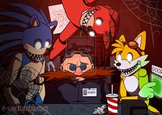 Five Nights at Speedy's by E-vay on DeviantArt Hedgehog Art, Shadow The Hedgehog, Sonic The Hedgehog, Pokemon, Sonic Unleashed, Sonic Funny, Sonic Adventure, Sonic Heroes, Sonic And Amy