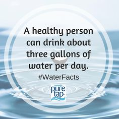 Water Facts, Water Quotes, Gallon Of Water, Pure Products