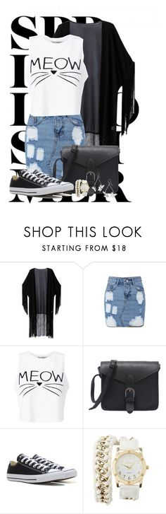 """""""Summer Adventure"""" by ggmusicista on Polyvore featuring moda, WithChic, Miss Selfridge, Converse e Charlotte Russe"""