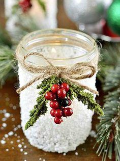 reindeer mason jars | ... 2oz – Americana Decou-Page Matte Epsom Salt Mason Jars Brush Twine