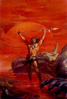 Conan and the Red Dragon is an ominous image and Doug Beekman was one of the better artists depicting Conan.