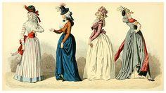 A la izquierda durante la República años1790 a 1792, derecha mismo periodo años 1793 a 1794.