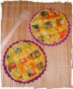 Crostatine Vegetariane con Caciotta Mista Maremmana.