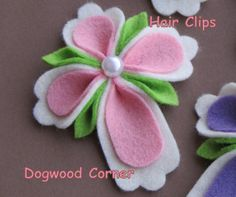 Pink Felt Easter Religious Christian Cross Hair by Dogwoodcorner, $3.50