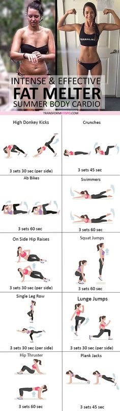 Moves to burn stubborn fat