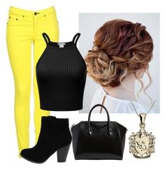 """""""A summer in the city: Hufflepuff"""" by frenchiest-fry on Polyvore featuring rag & bone and Givenchy"""