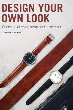design your own look with Kapten & Son