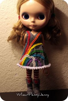 Love this felt dress and boots <3