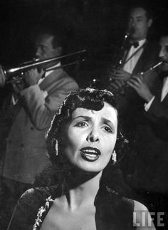 Lena Horne singing with the band at The Copacabana night Club, New York, 1948