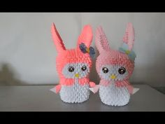 3d origami bunny rabbit - Thỏ origami 3d - poppy9011 - YouTube