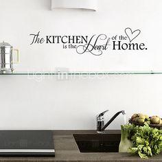 muurstickers muur stickers, engels woorden&citeert pvc keuken stickers…