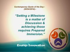 Contemporary Quote of the Day - (30/04/2014):-  by Enship/Innovation via slideshare