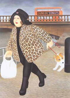 By the Clyde - Beryl Cook - Glasgow Museum Drag Queens, Frida Diego, Beryl Cook, Glasgow Museum, Plus Size Art, Diego Rivera, English Artists, Fat Women, Art Uk