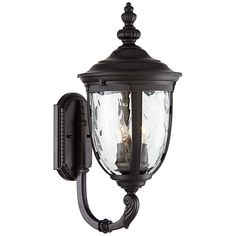 John Timberland European Outdoor Wall Light Fixture Textured Black Upbridge Arm Clear Hammered Glass for Exterior Porch Patio Outdoor Wall Light Fixtures, Black Outdoor Wall Lights, Outdoor Light Fixtures, Garage Lighting, Outdoor Wall Lighting, Outdoor Walls, Candelabra Bulbs, Candle Sconces, Wall Sconces