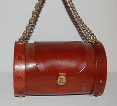 Boho Chic 60s Leather Round Purse