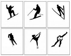 Zimní sporty - stíny – (Mujblog.info v3.1) Winter Art Projects, Winter Project, Winter Crafts For Kids, Winter Kids, Art For Kids, Olympic Crafts, Trans Art, 8th Grade Art, Olympic Sports