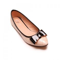 Wholesale Casual Bordered and Bowknot Design Women's Flat Shoes Only $10.90 Drop Shipping   TrendsGal.com