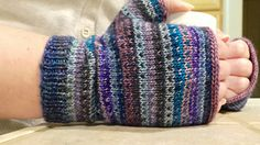 Ravelry: Modicum Mitts pattern by Rachel Roden (fingering weight ). Left-over sock yarn