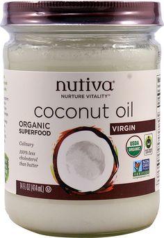 Nutiva Organic, Unrefined, Virgin Coconut Oil, 54 Fl Oz (Pack of Coconut Oil For Lips, Best Coconut Oil, Extra Virgin Coconut Oil, Organic Coconut Oil, Organic Oil, Edible Oil, Cooking With Coconut Oil, Pregnancy