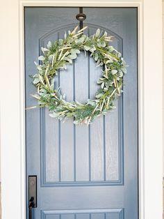 Classic DIY Front Door Wreath - Kelly Lynn's Sweets and Treats