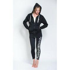 Statement 3/4 length hoody in black with bold swallow-flock design on back #hoody #sportswear #streeetwear #activewear #loungewear #yoga #pilates #workout #running #fitness #swallow