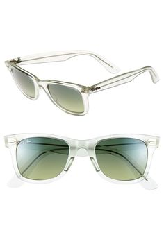 Ray-Ban 'Ice Pop Icon - Wayfarer' 50mm Sunglasses Mint One Size from Nordstrom on shop.CatalogSpree..., your personal digital mall.