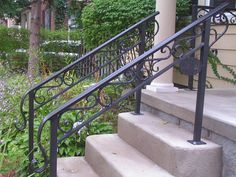 Exterior Wrought Iron Stair Railing Kits Handrails For Outdoor Steps Elegant Gainesville Porch Handrails, Exterior Stair Railing, Stair Railing Kits, Outdoor Stair Railing, Iron Handrails, Stair Railing Design, Hand Railing, Handrails Outdoor, Metal Balusters