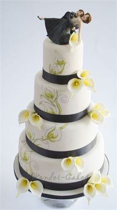 A sophisticated cake with a fun topper!