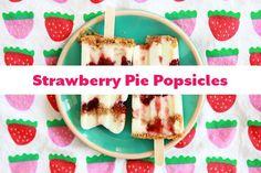 Strawberry Pie Popsicles