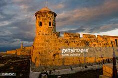 Stock-Foto : Castillo de San Salvador de La Punta, guarding Havana harbor, Cuba