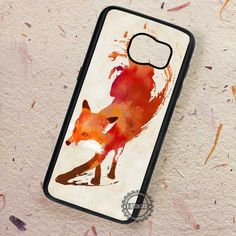 Vulpes Art Fire Fox Water Color - Samsung Galaxy S7 S6 S5 Note 7 Cases & Covers