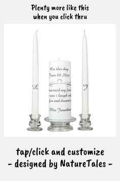 On this day unity candle set - tap/click to get yours right now! #unitycandleset #affiliatelink #bride #and #groom #zazzle.com Wedding Unity Candles, Taper Candles, Candle Set, Marry Me, Custom Design, Groom, Wedding Day, Bride, Pi Day Wedding
