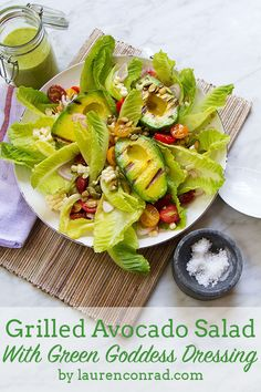 Avocado Salad with Green Goddess Dressing