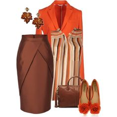 Orange and Brown, created by striplingmom-1 on Polyvore