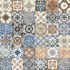 "Marrakesh 8"" x 8"" Designer Tile Collection - Color Mix"