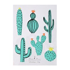 These cool stickers will make you prickle with excitement! Featuring a host of cactus designs in bright colors. Stickers are created with a soft plastic. Pack includes 1 sticker sheet in assorted desi