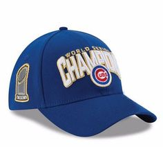 Official 2016 World Series Champions Champs Chicago Cubs Baseball Cap/Hat Adjustable Unisex