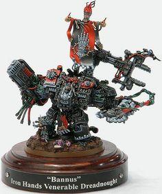 Warhammer 40000,warhammer40000, warhammer40k, warhammer 40k, ваха, сорокотысячник,фэндомы,Miniatures (WH 40000),Iron Hands,Space Marine,Adeptus Astartes,Imperium,Империум,Dreadnought,senpai
