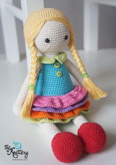 Muñeca con trenzas, increíble Vestido de y zapatos rojos de ganchillo / Crochet juguete / bebé ducha, cumpleaños, regalo de Navidad / juguetes de niñas niño niños / Linda encantadora muñeca de ganchillo Obtener conocimiento, lindo, encantador y colorido del ganchillo muñeca Eva! Ella