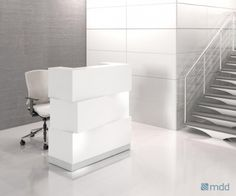 ZEN Reception Desk, White by MDD Office Furniture   SohoMod.com