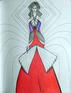 #fashion #moda #fashiondesign #corset #dress #mental #stripes #design #fashiondesigner #designer #style #look  #art
