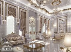 A luxury villa interior design is not complete without a Majlis – a place where people gather and chat. Description from algedra.ae. I searched for this on bing.com/images