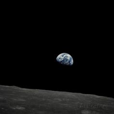 Earthrise and Lunar Horizon from Apollo 8 Photographic Print at AllPosters.com